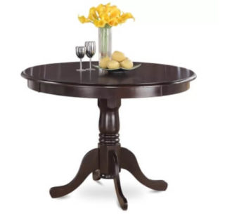 Small round table with a matte and water-resistant finish.