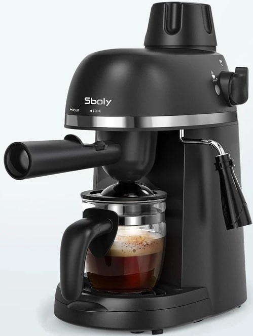 The Espresso Machine with Milk Frother by Sboly.