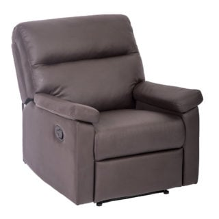 Elegant single recliner chair with easy-pull reclining mechanism and durable metal frame.