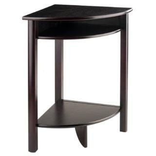 Small contemporary corner desk with shelf.