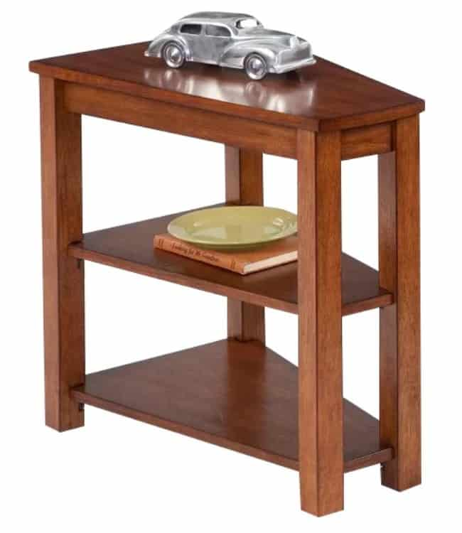 Small Contemporary Wood Corner Table.