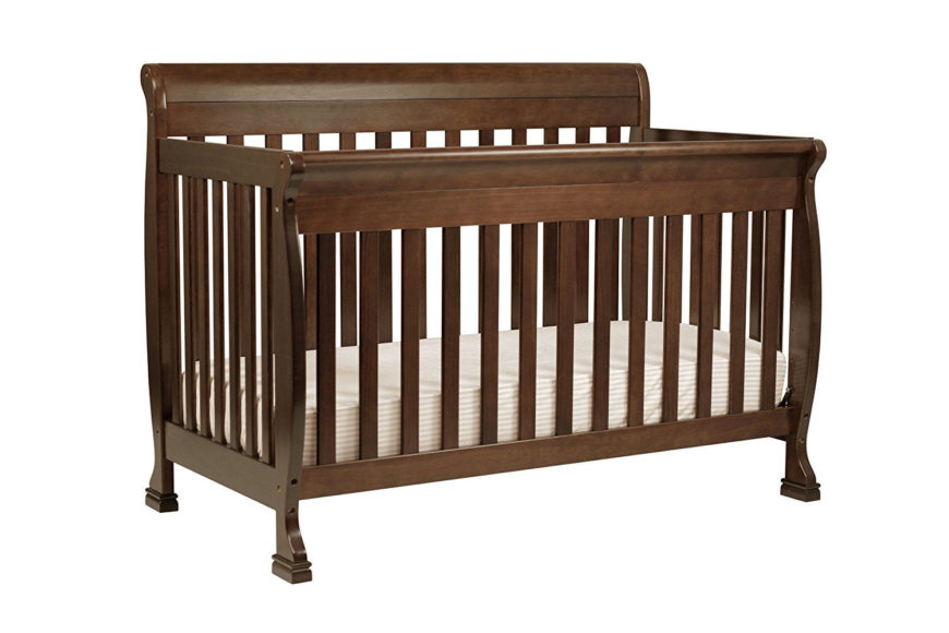 Small comvertible crib with non-toxic espresso finish and lead and phthalate safe.