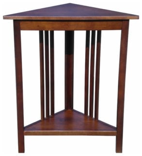 Small craftsman red mahogany wood side table.