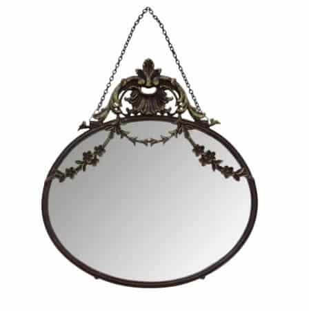 A highly fashionable and elegant mirror that is both functional and decorative.