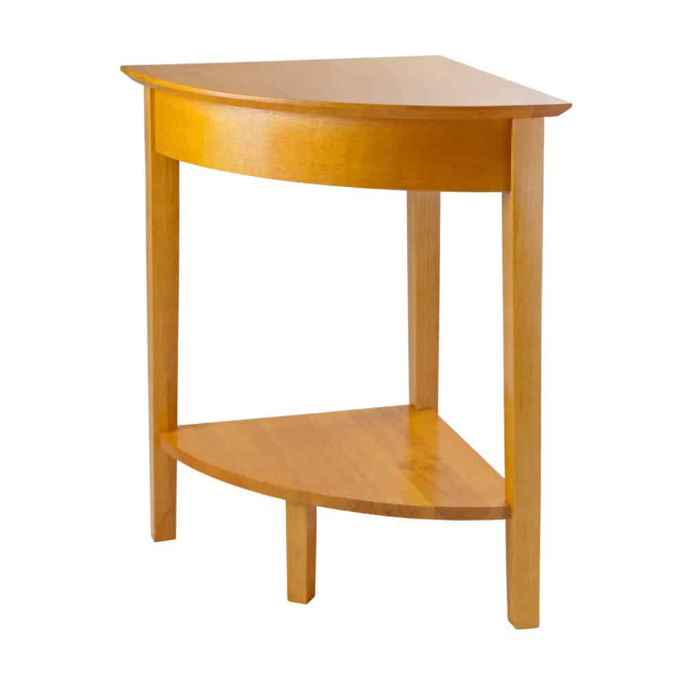 Small Solid Wood Corner Table.