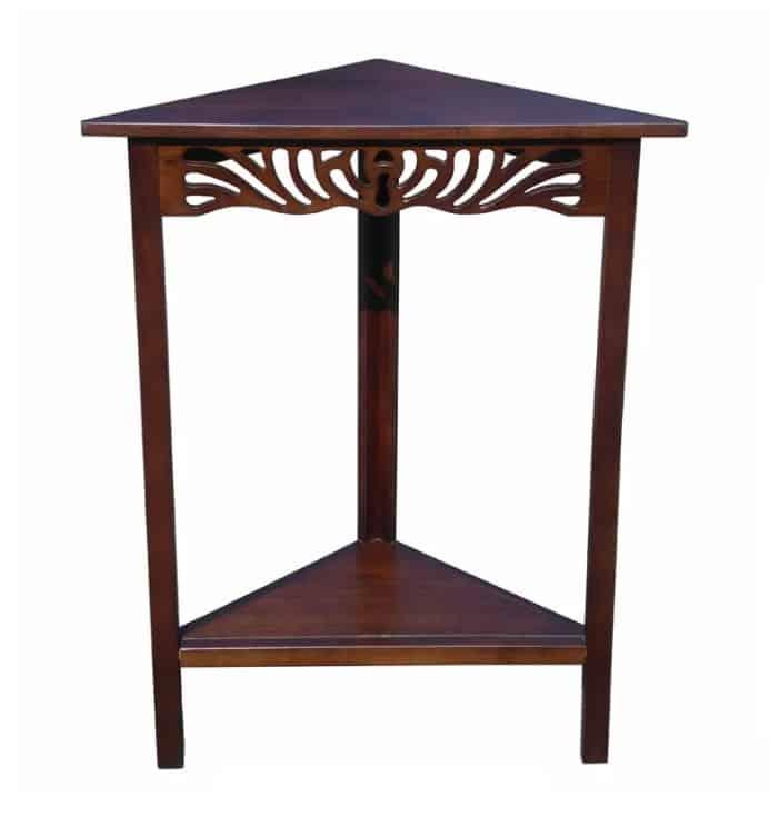 Small Triangle Wood Corner Table.