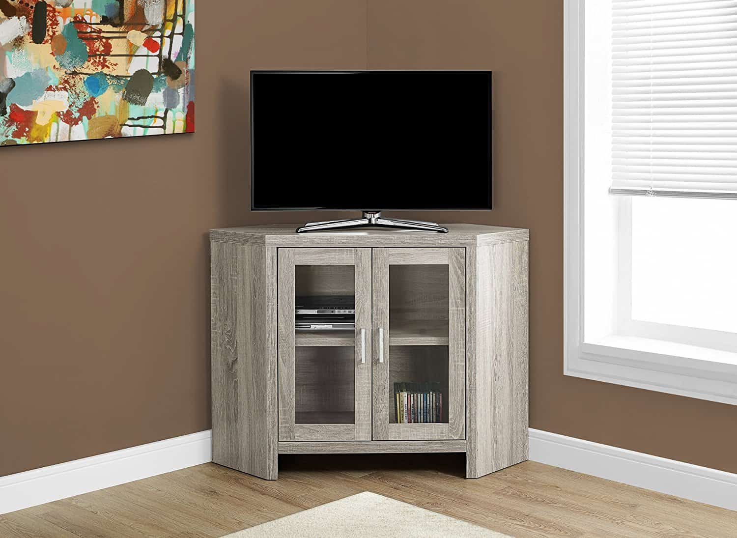 Small White Corner Tv Cabinet