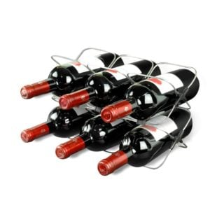 Standard wine rack with collapsible and stackable function.