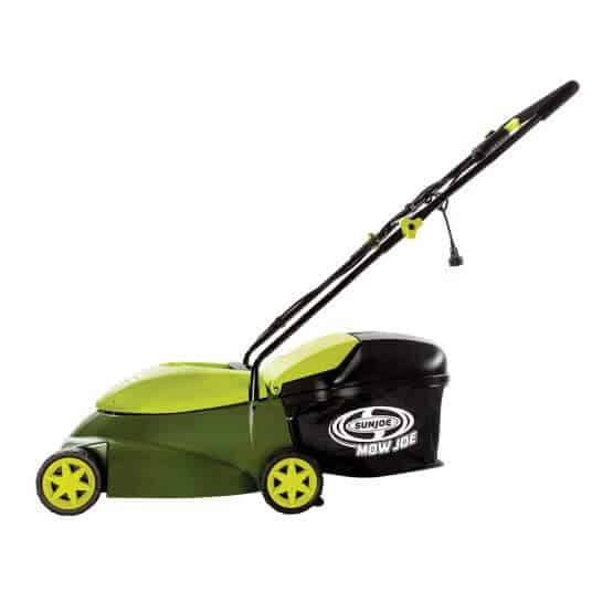 A lawn mower with small blades that allows precision in mowing.