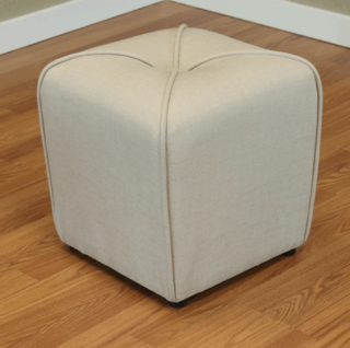Transitional small ottoman.
