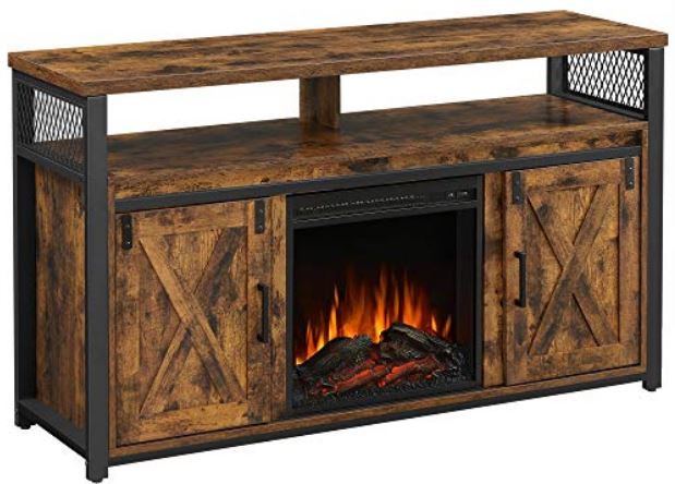 The TV Cabinet with Fireplace from VASAGLE.
