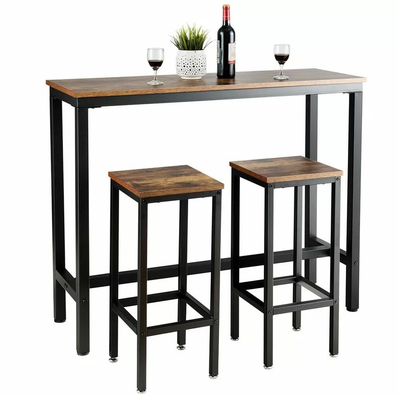 Williston Forge Vidette 3 Piece Counter Height Dining Table