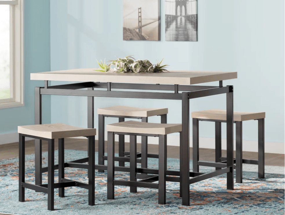 Elegant Rectangle Kitchen Dining Table Set Under $200