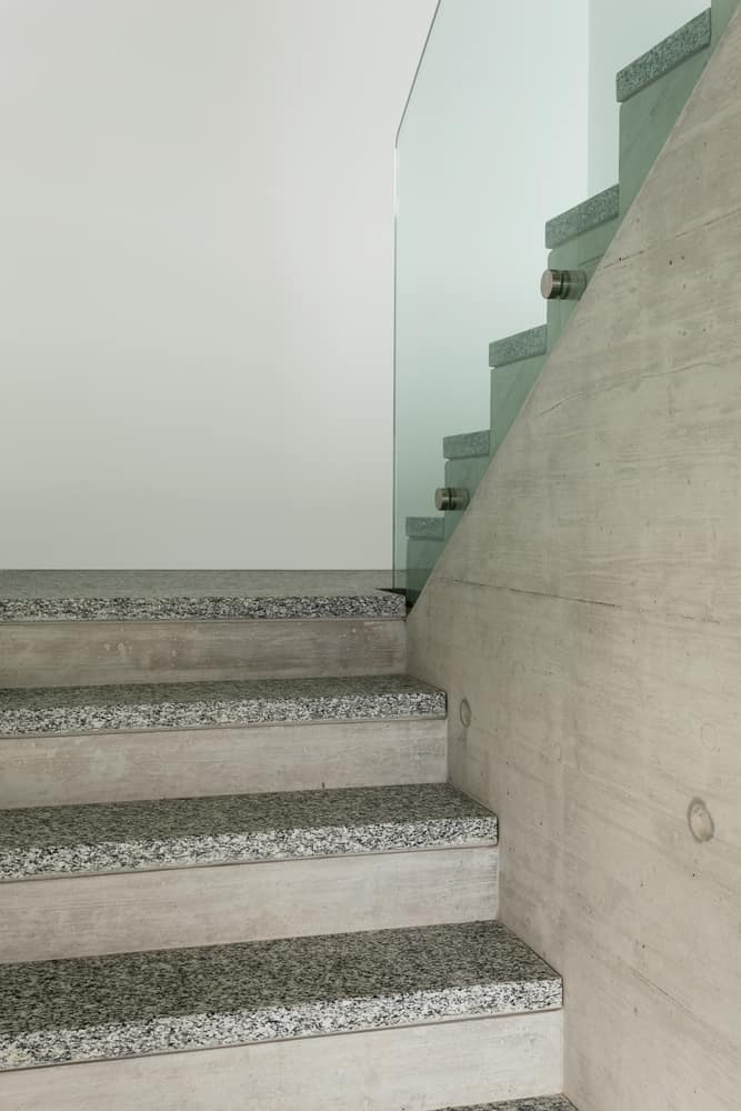 Granite staircase for modern home.