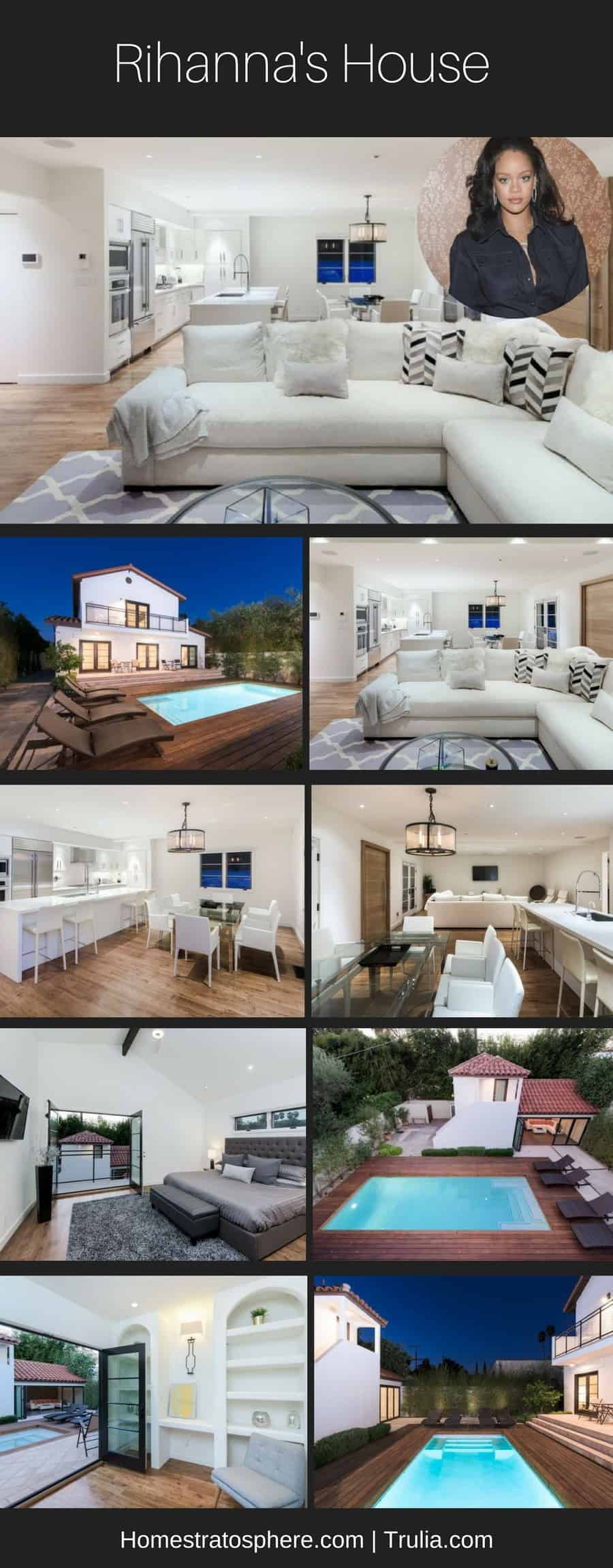 Rihanna's West Hollywood House Infographic