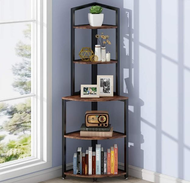 Tribesigns five-tier corner shelf from Amazon.