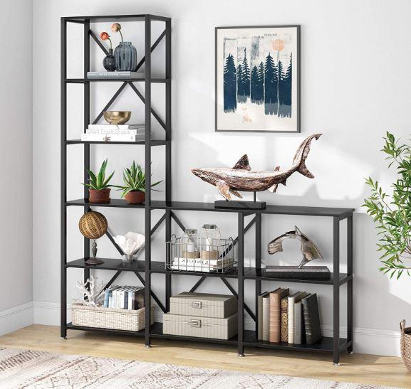 Tribesigns nin-shelf bookshelves from Amazon.