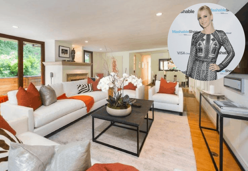 Photo of Anna Faris' living room in her Hollywood Hills home.