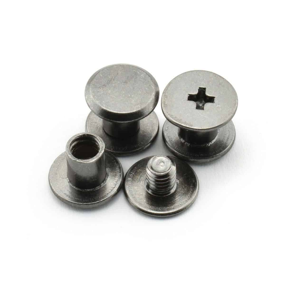 Cross head binding screw with anti-corrosion and anti-rust features.
