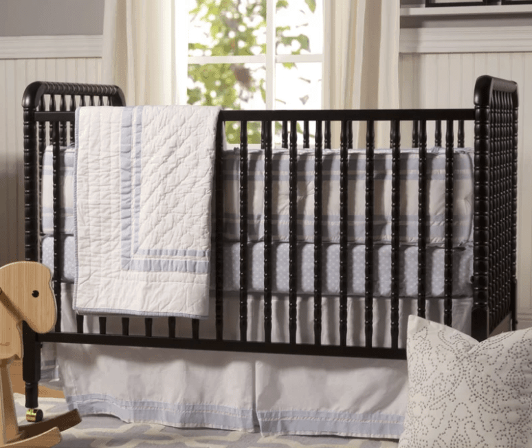 Black small baby crib