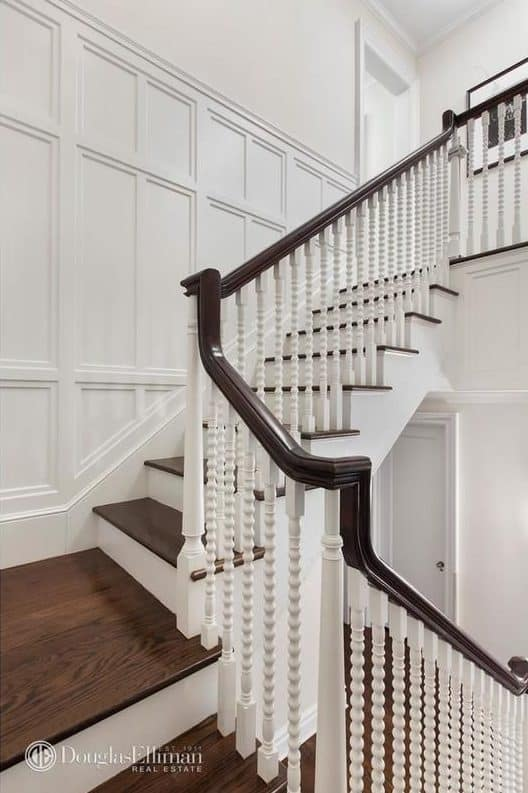The Staircase Looks Classy As Well With Its Stylish Handrails And Hardwood  Floors.