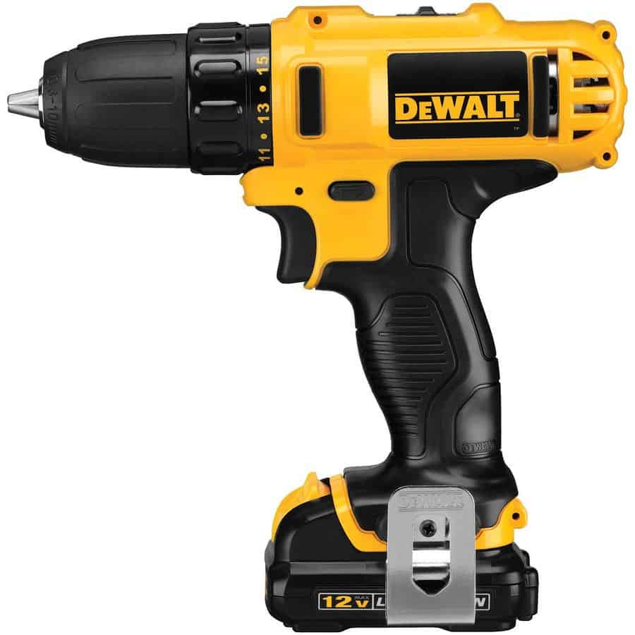 3/8-in cordless drill with 15 clutch settings and LED light.