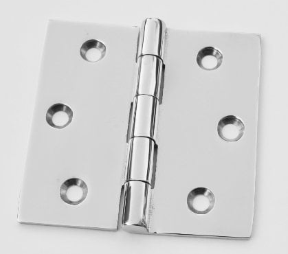 Stainless steel 3 inch butt hinge.