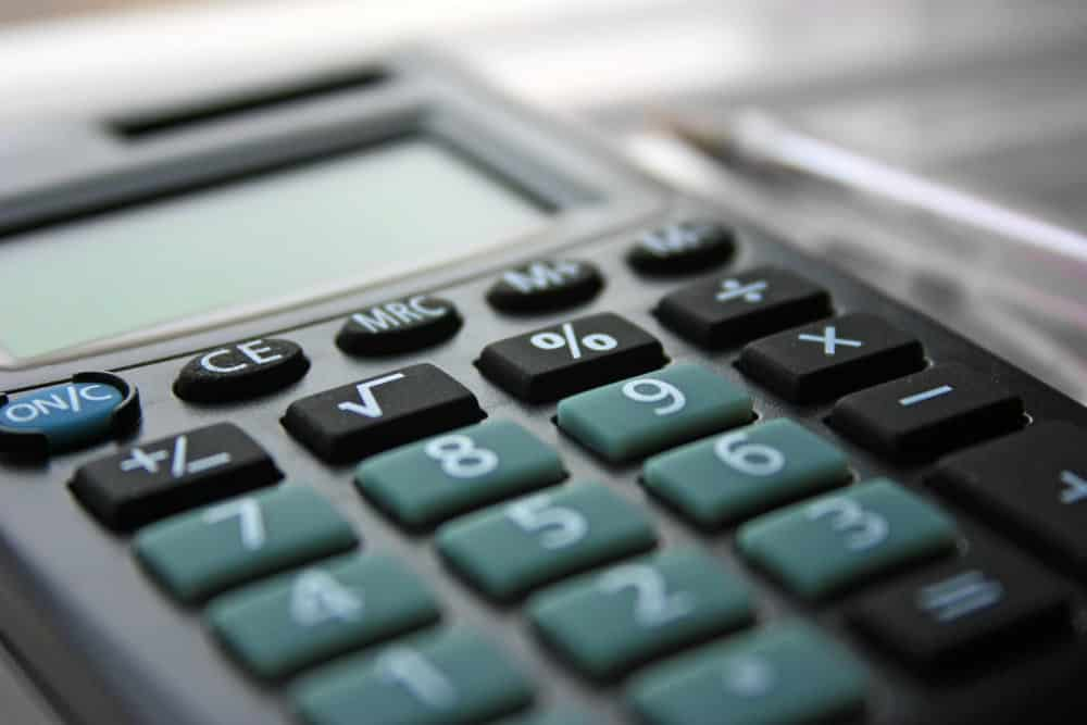 Calculator for calculating cost of drywall