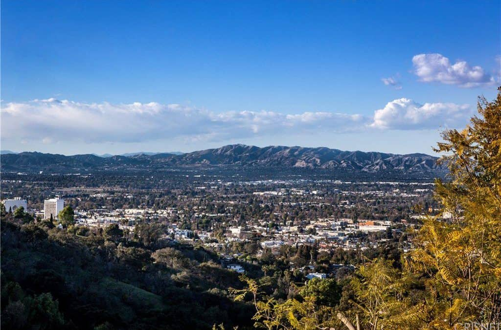 The beauty of the Mulholland Estates can be clearly seen from Charlie's Beverly Hills Mansion.