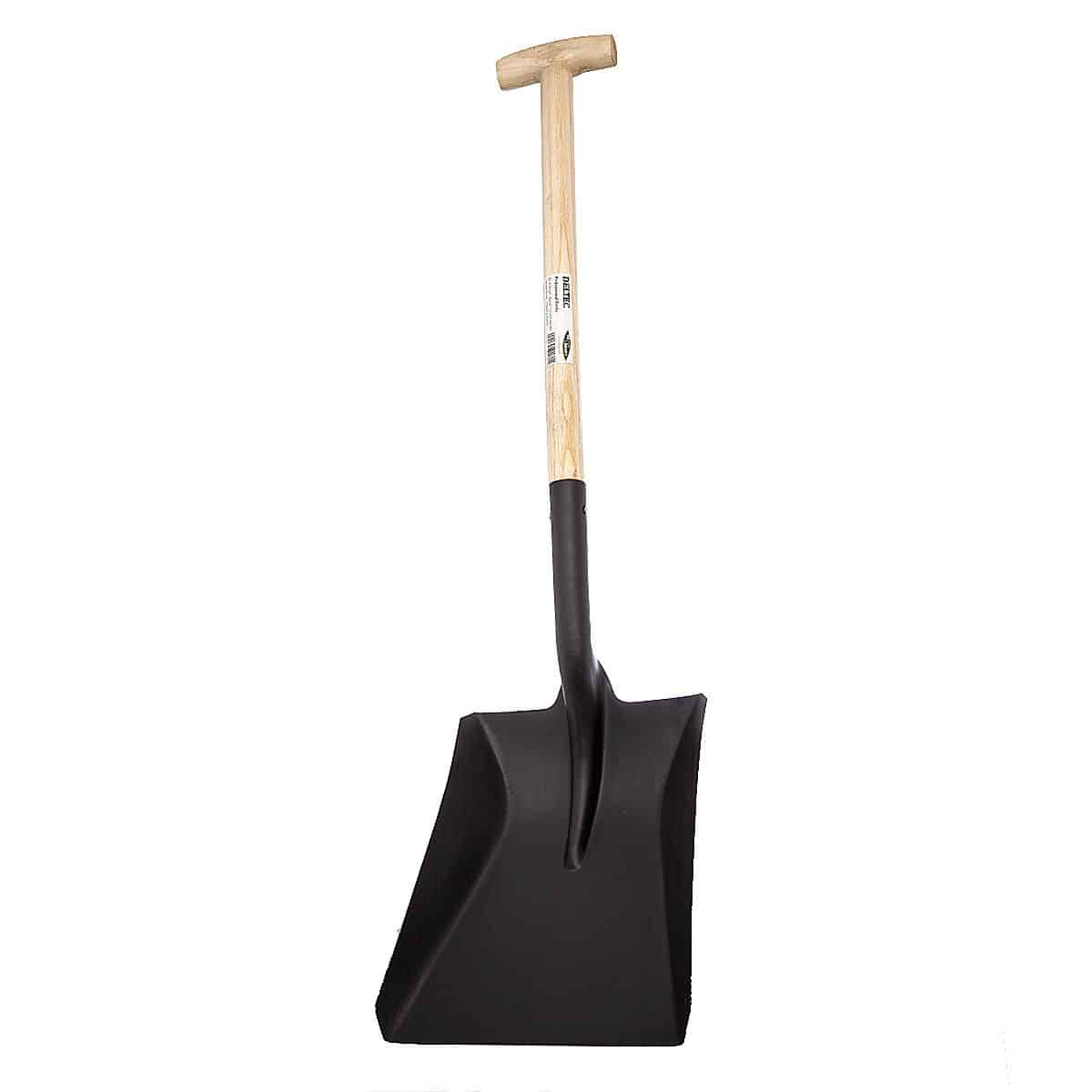 Barrel t crutch handle shovel with square mouth