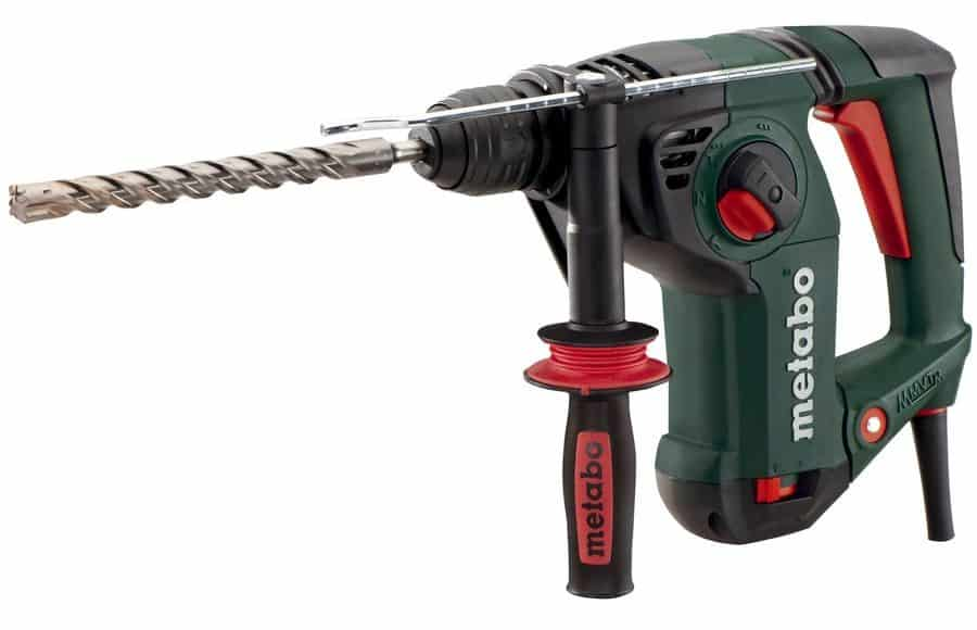 Key-less rotary hammer with speed-control and chisel rotation adjustment.