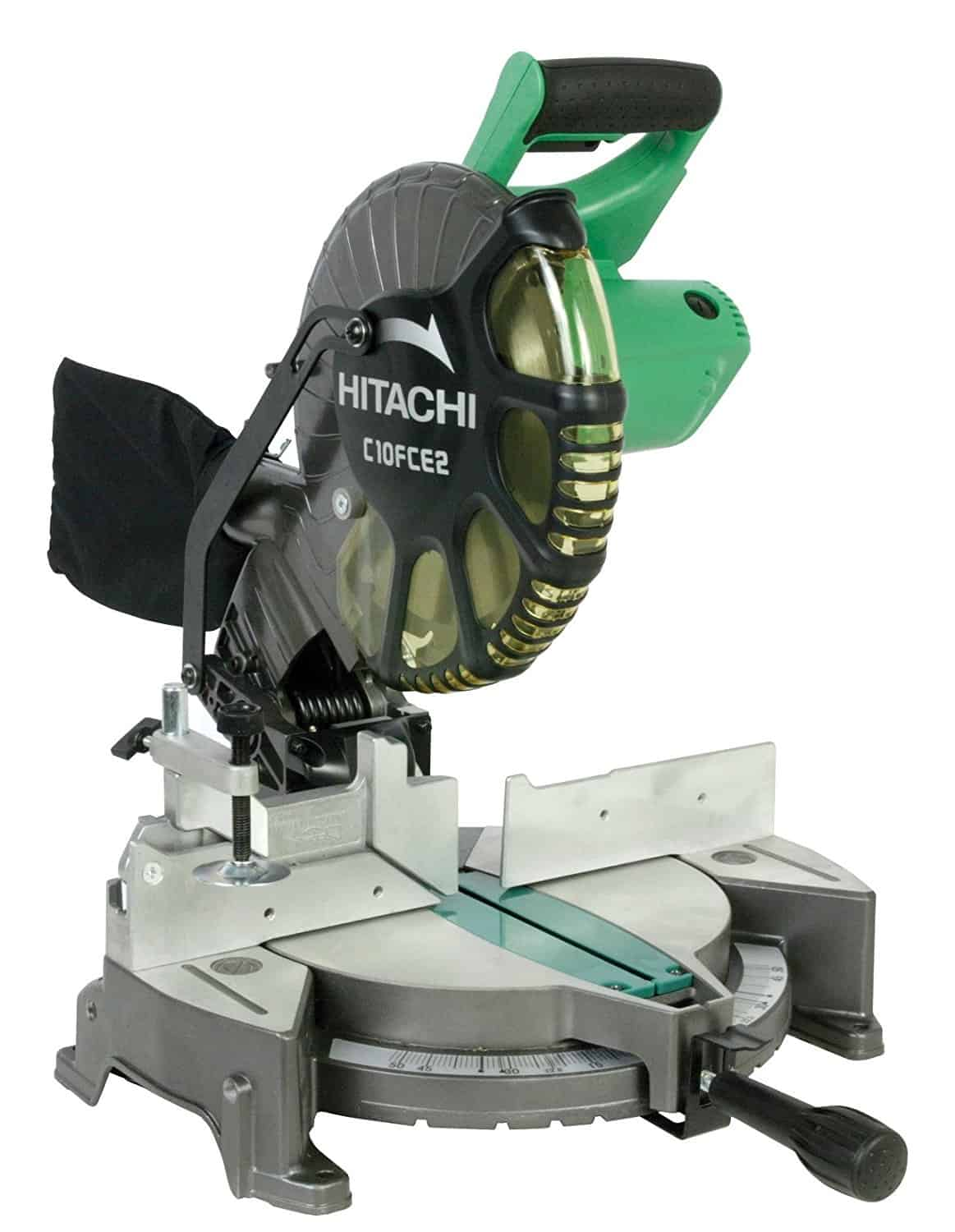 15 Amp 10-inch Single bevel compound miter saw.