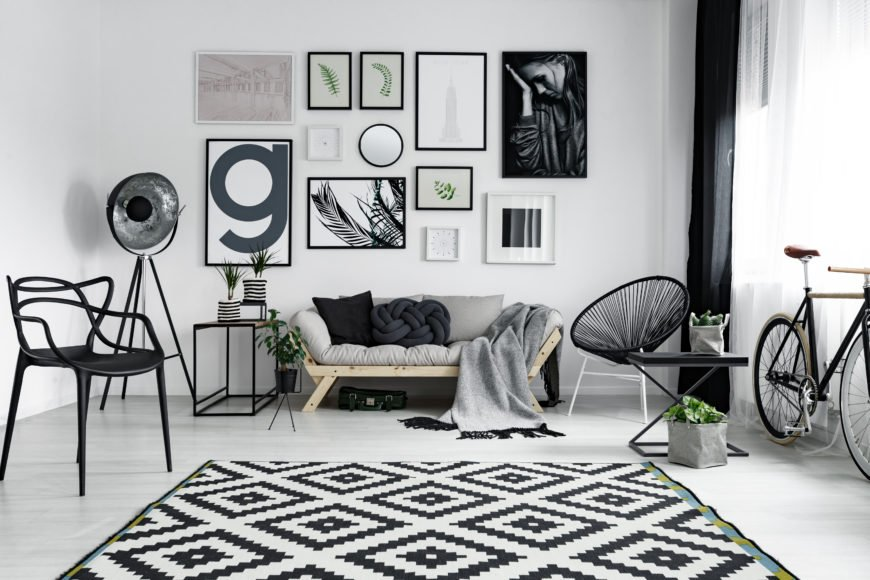 Stylish home wall gallery.