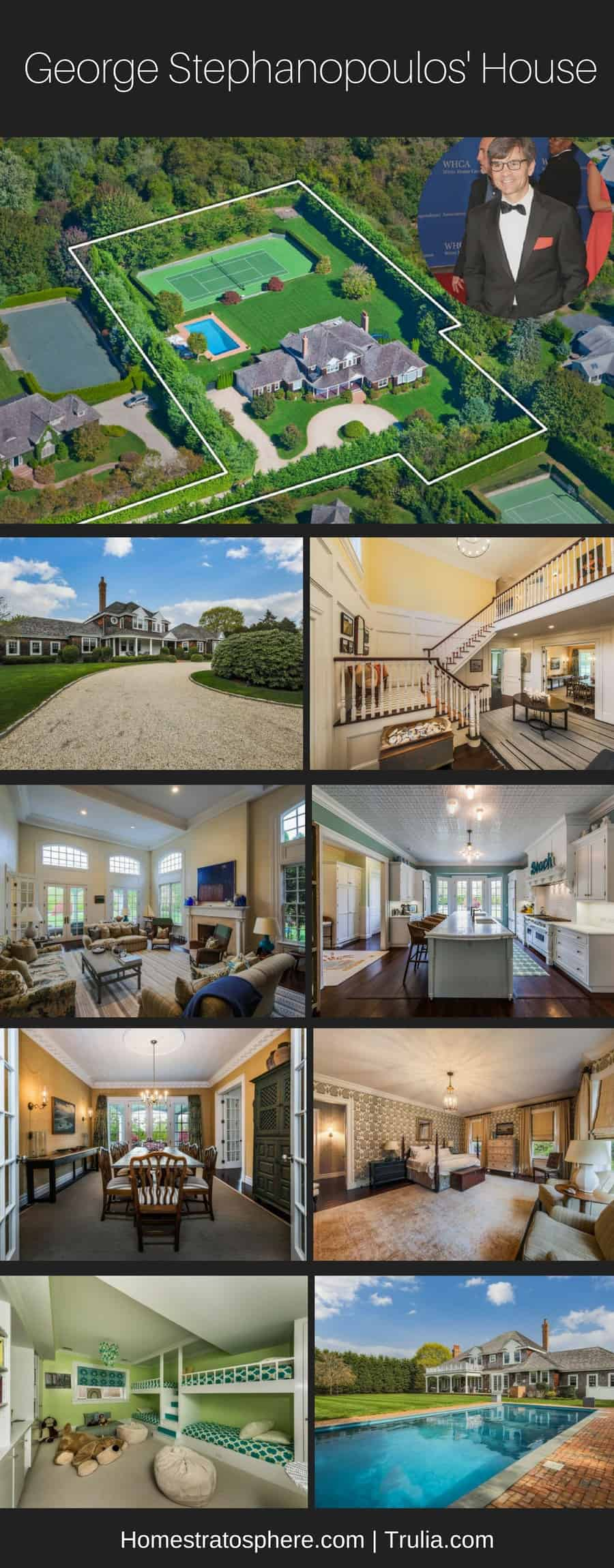George Stephanopoulos' Southampton Home - Photo Collage