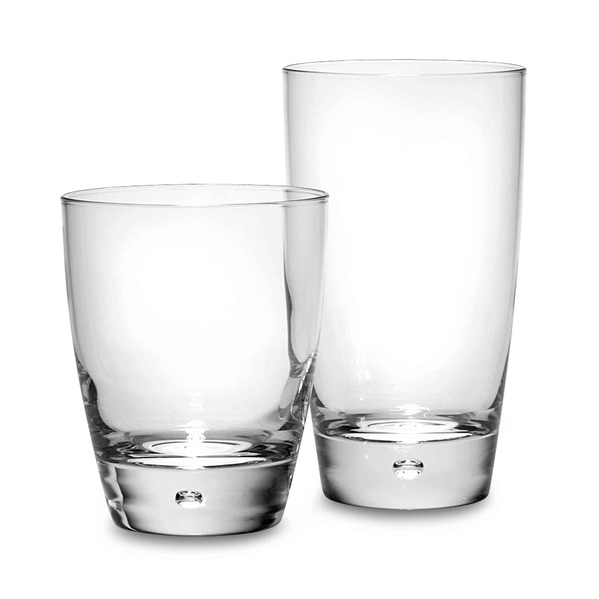 Contemporary dailyware with a bubble at the bottom design and dishwasher safe feature.