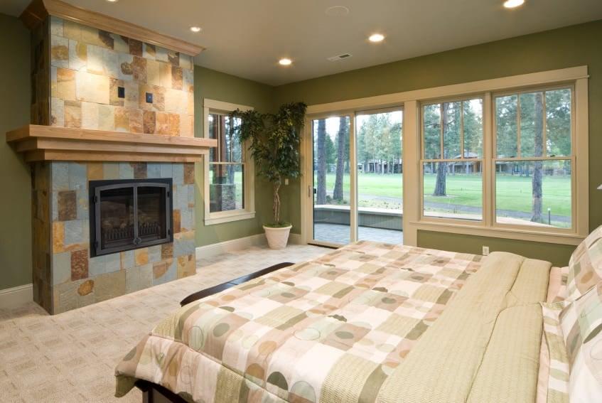Green and Beige Bedroom