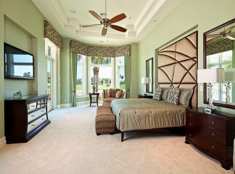 Avocado Green and White Bedroom