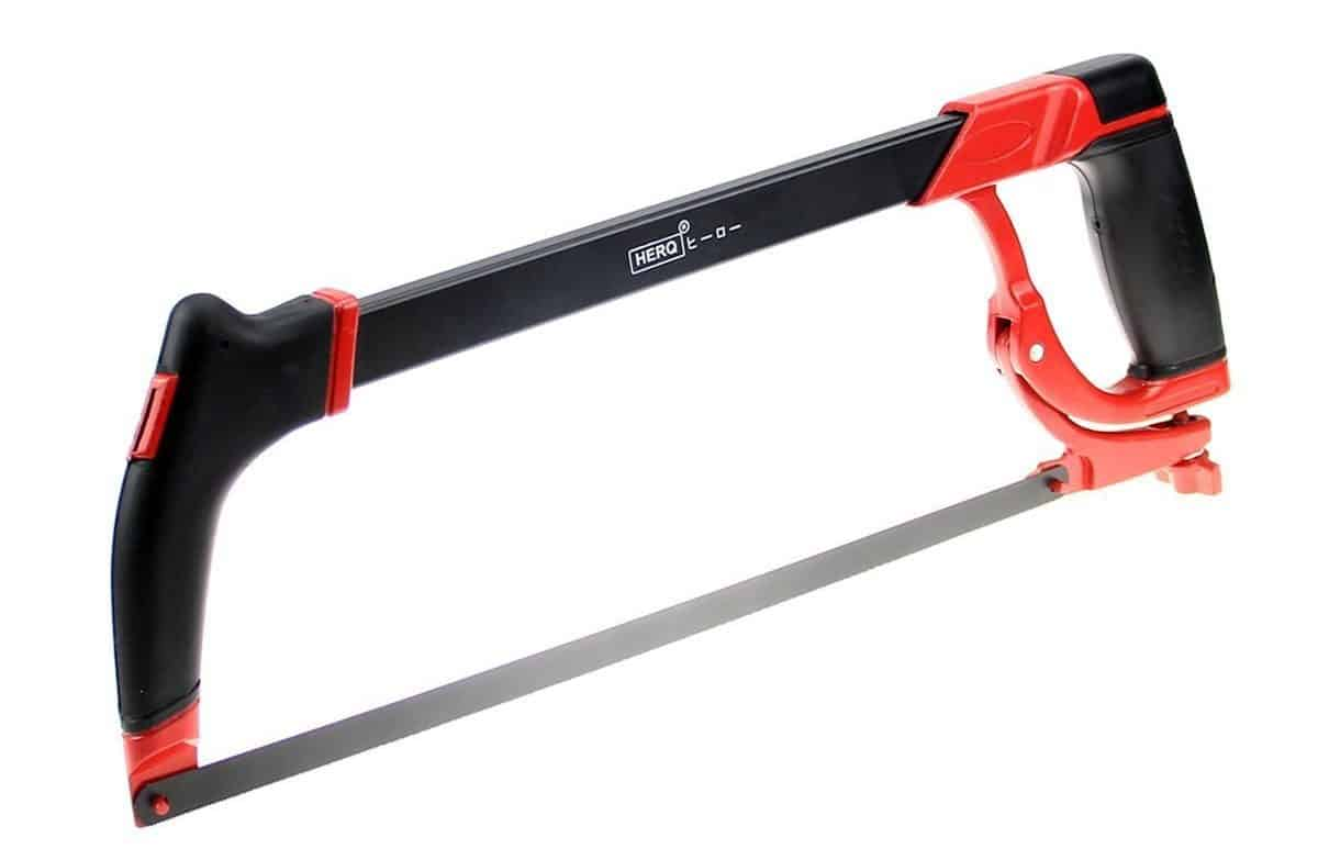 Heavy duty high-tension hacksaw frame.