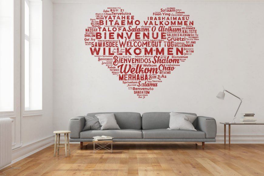 Good-looking temporary wall decal.