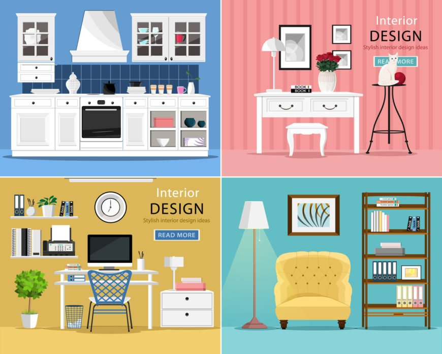 Home and garden custom illustrations and diagrams