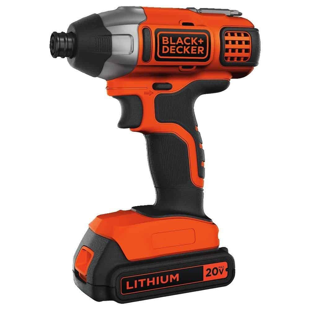 Lithium impact driver with 1375 in-lbs of max torque and lightweight body.
