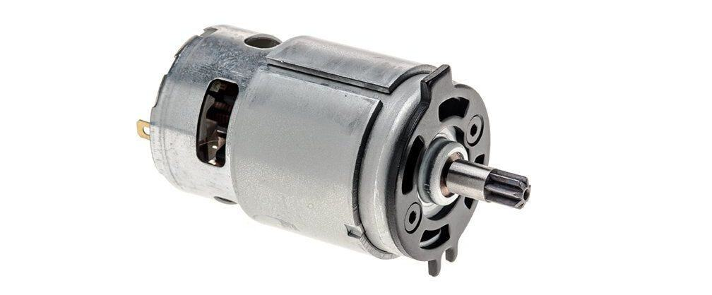 Drill driver motor assembly with 5-inch long, 10-inch wide, and 3-inch high specs.
