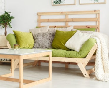 Picture of light wood futon