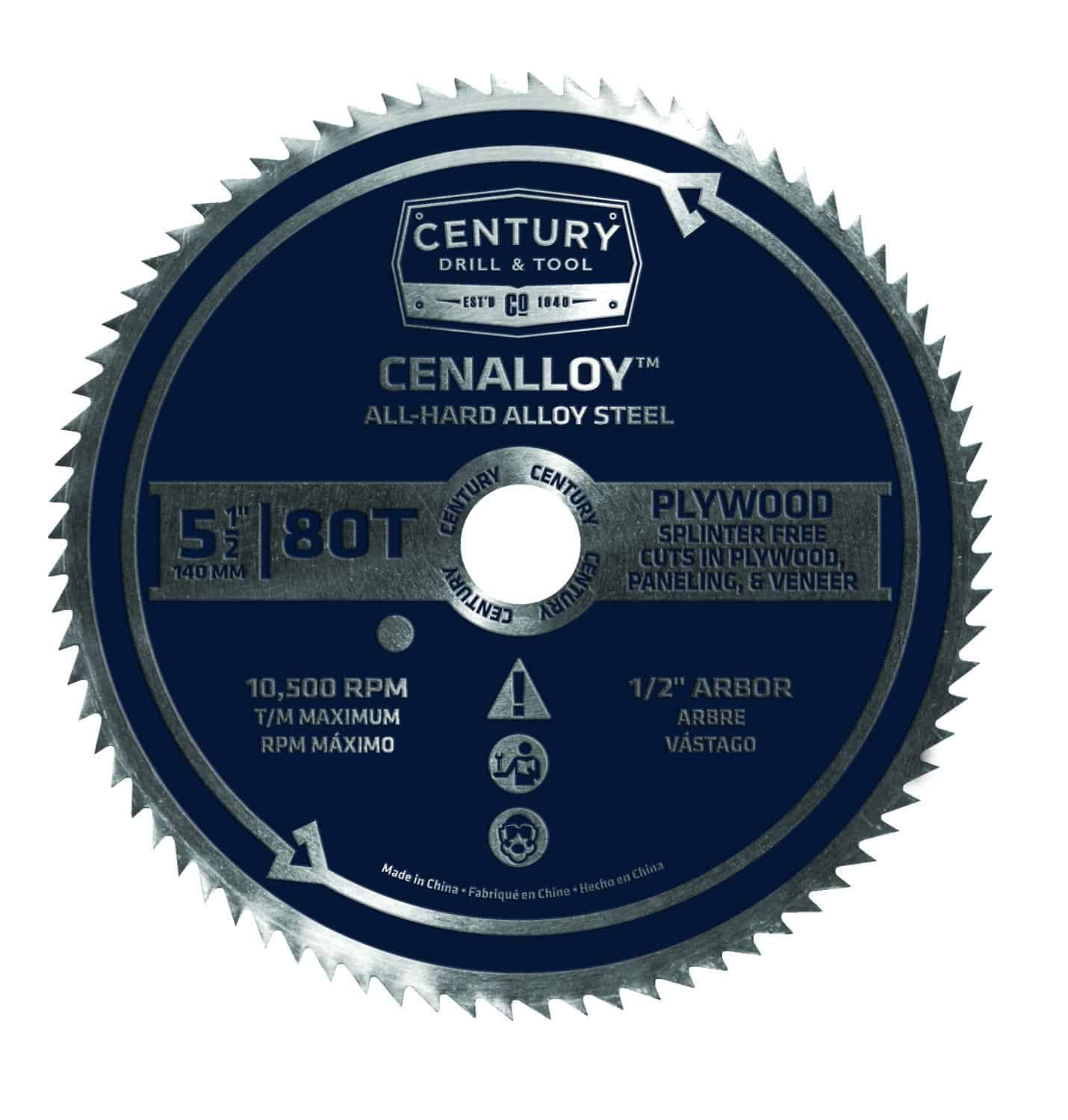 Cenalloy all hard steel circular saw blade.