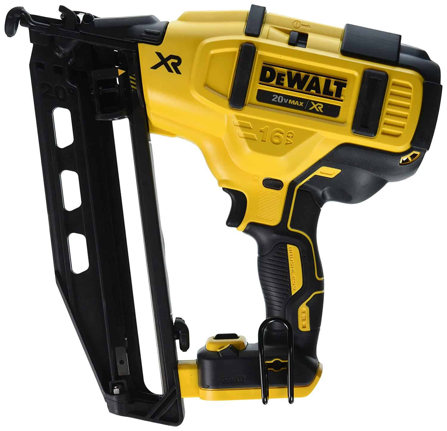 Nail guns with integrated LED lights and bump operating mode.