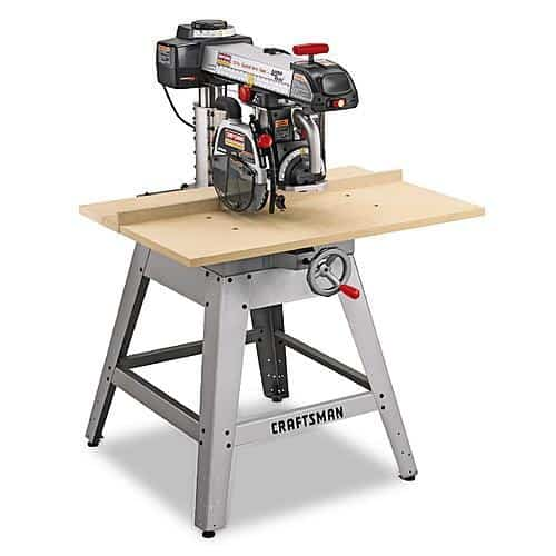 10-inch radial arm saw with lasertrac.
