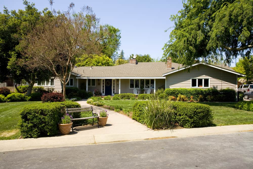 Example of a ranch style home