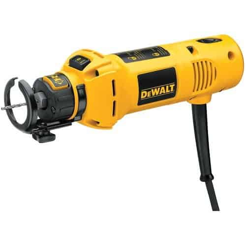Cut-out 5 Amp 30,000 RPM rotary tool with 1/8 inch and 1/4 inch collets.