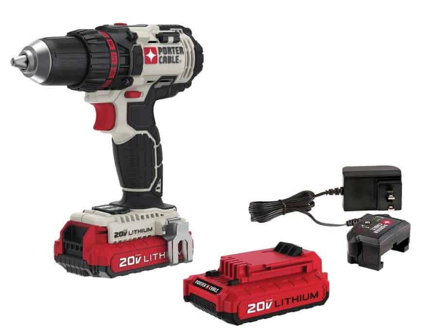 1/2 inch cordless drill with LED work light and high performance motor.