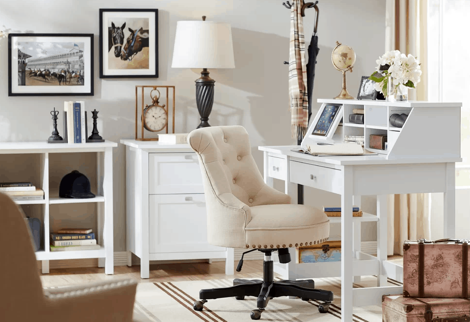 office rug. Country Home Office With White Walls And Table Along Laminated Flooring Rug. Rug L